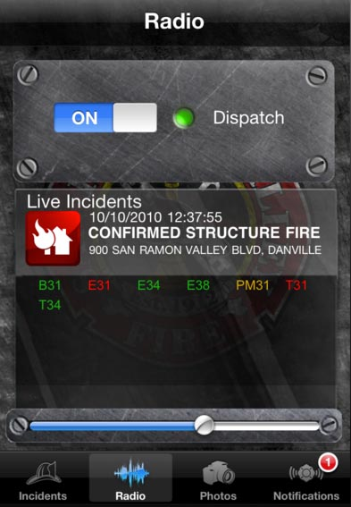 FireDepartment app