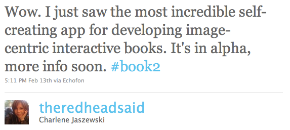Bookcamp tweet