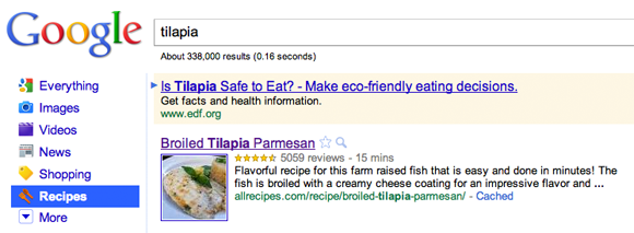 Google Recipe View
