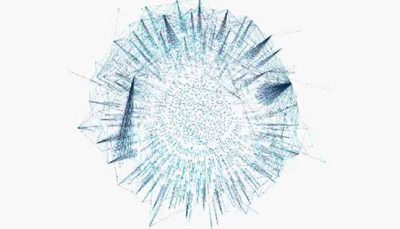 Screenshot from Gephi.org's visualization of Egypt tweets