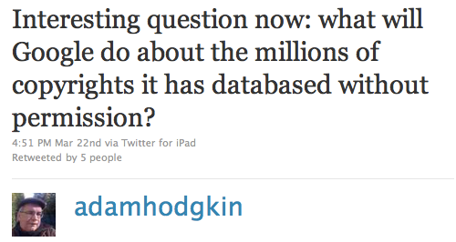 Adam Hodgkin tweet