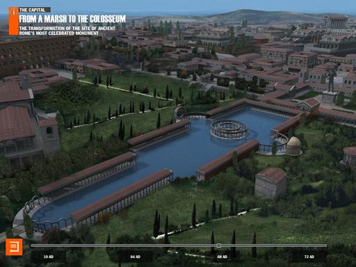 Virtual History ROMA iPad app
