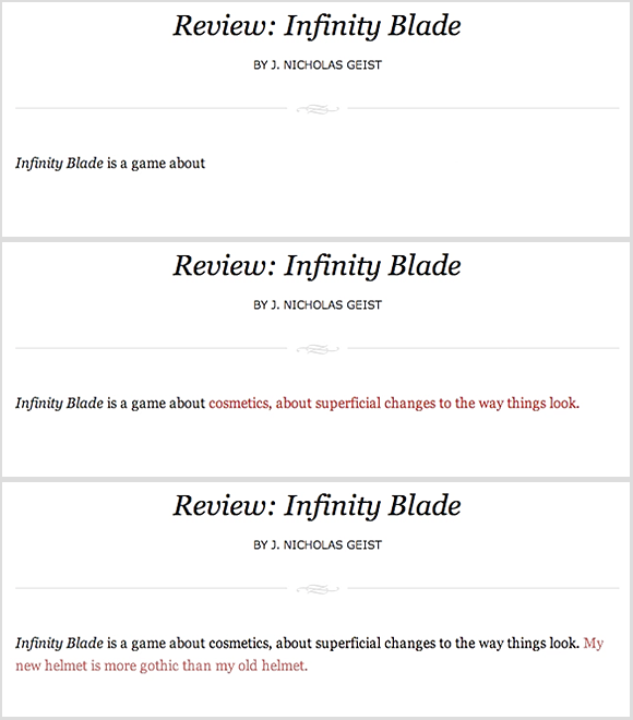 Infinity Blade review example