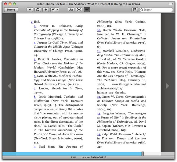 Page packed with lots of endnotes