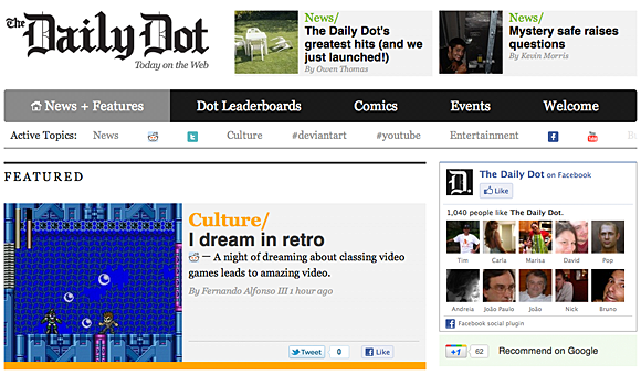 Daily Dot screenshot