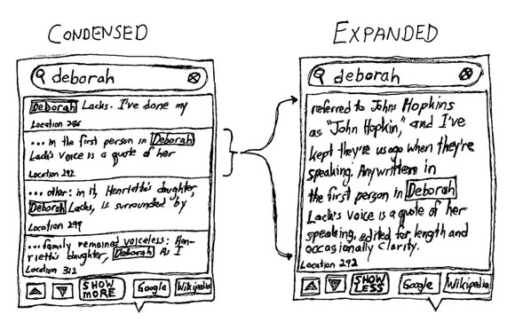 Proposed design for improved ebook search results