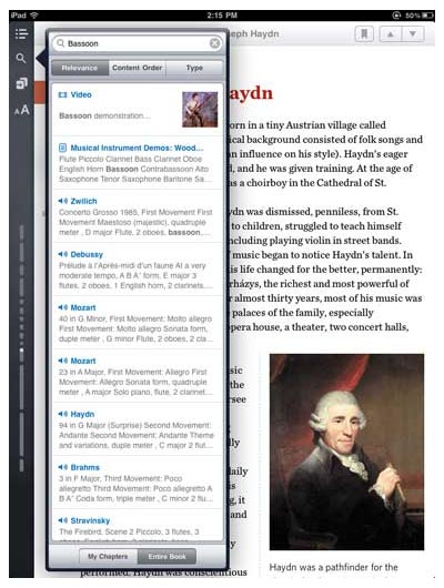 the Inkling iPad app's inside-the-ebook search tool