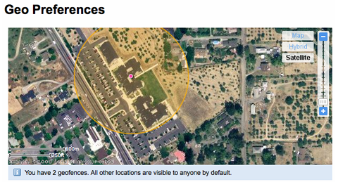 Flickr geofence example