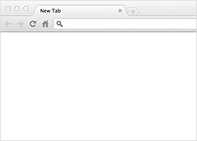 Blank browser window