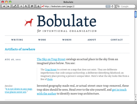Sidenotes on bobulate.com
