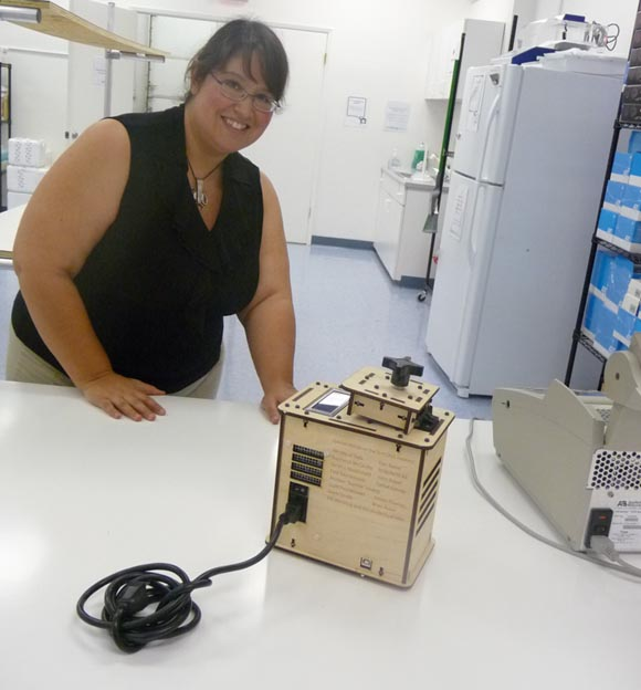 BioCurious staffer with OpenPCR
