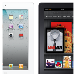 iPad 2 and Kindle Fire