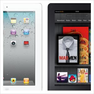 iPad 2 and Kindle Fire