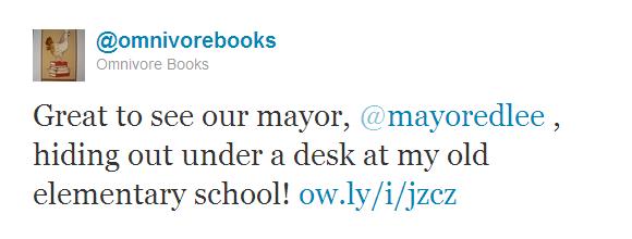 Omnivore Books tweet 2