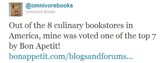 Omnivore Books tweet 4