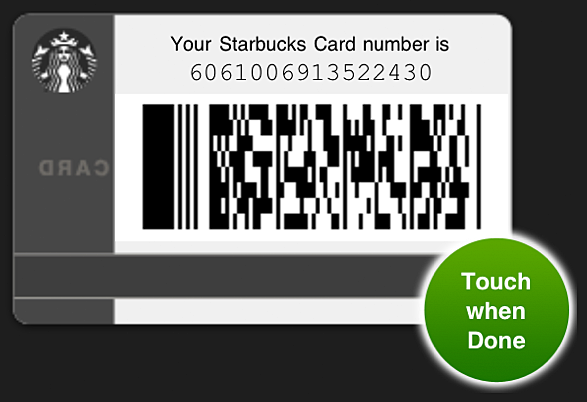 Screenshot of Jonathan Stark's Starbucks card