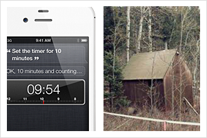 iPhone 4s and an old cabin