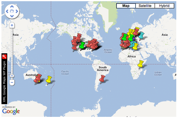 Screenshot from the Open Knowledge Foundation's Open Government Data Map