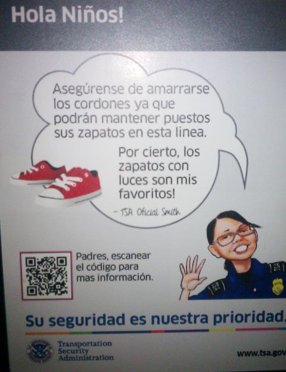 TSA poster with QR code