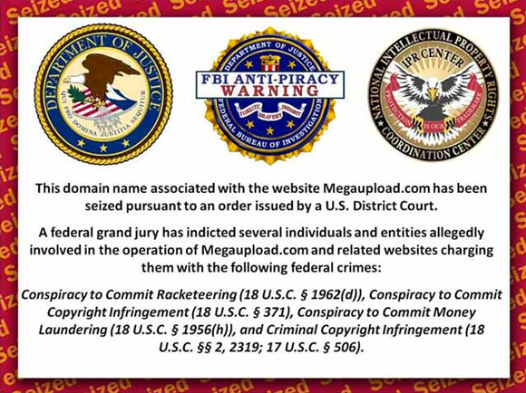 Megaupload seizure notice