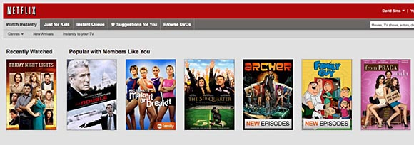 Netflix queue example